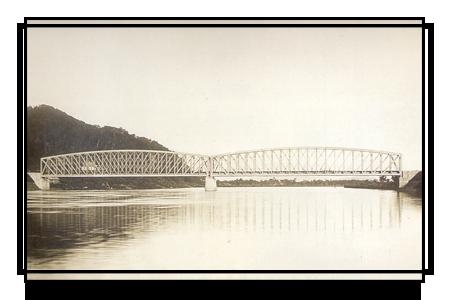 Железнодорожный мост через реку Бикин, конец 19 века