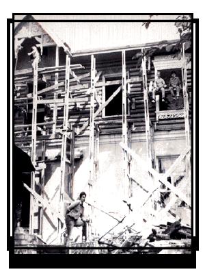 Строительство второго этажа Бикинского музея